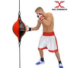 Max strength Double Extrémité Ballon Vitesse Dodge Cuir Boxe Sol à Plafond Punch