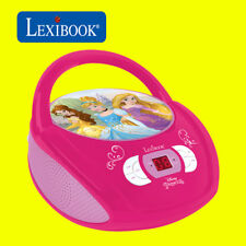 Lexibook Kids Disney Princess Boombox Radio CD Player AUX FM Radio Stereo