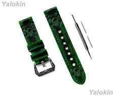 Green & Black Skull Crossbones Band for Samsung Galaxy Watch 3 45 46mm Gear S3