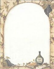 Vino Wine Bottles Cheese & Grapes Winery Letter Computer Paper - 67 sheets
