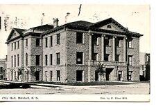 City Hall Building-Mitchell-South Dakota-Vintage B/W Postcard