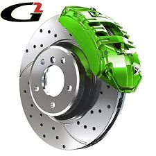 LIME GREEN G2 BRAKE CALIPER PAINT EPOXY STYLE KIT HIGH HEAT MADE IN USA FREESHIP