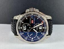 Chopard Gran Turismo XL 44mm Men's Steel Rubber Automatic Watch 8ct DIAMOND