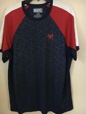 MARVEL SPIDERMAN Men's T-Shirt Navy Blue Size LARGE