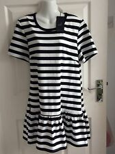 THE FIFTH MONOCHROME BLACK & WHITE STRIPE stretch BLOUSE DRESS size 18 XL BNWT