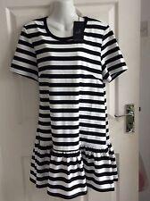 THE FIFTH MONOCHROME BLACK & WHITE STRIPE stretch BLOUSE DRESS size 18 XL BNWT