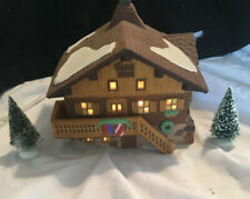 Dept 56 Alpine Village Kamm Haus House On The Crest Retired Hand Painted 2 Trees