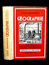 COURS DE GÉOGRAPHIE - Les principales puissances du monde - A. DEMANGEON - 1957