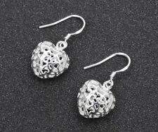 Silver Plated Cute Love Drop Earrings Women New Fashion Jewelry Beautiful 925
