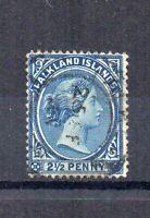 Falkland Islands 1894 2 1/2d Prussian blue FU