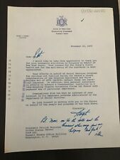 Hugh Carey 1979 Typed Letter Signed -To NY Senator Daniel Patrick Moynihan - NYC