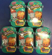 SHOPKINS SEASON 3 BLIND BASKET 2 PACK (LOT OF 5) - NEW!!!
