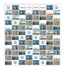 Fotovorhang für 96 Fotos 10x15 Querformat Foto-Wand Fotogalerie Fototasche