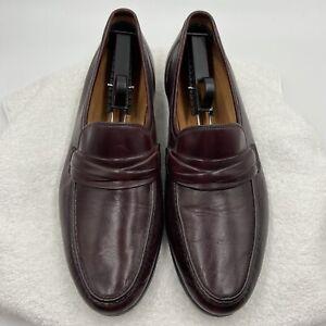 Allen Edmonds Bergamo Loafers Men's Size 10.5 D Burgundy Red