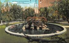 EL PASO, TX Texas   ALLIGATOR POOL~San Jacinto Plaza    c1910's Postcard