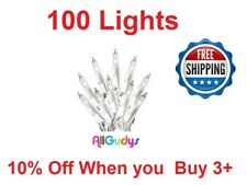 100 Clear White Christmas Wedding Mini Lights String Strand Indoor Outdoor 22 FT