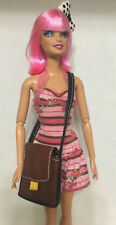 Barbie Ken Doll My Scene River Faux Leather Brown Messenger Bag Accessory Rare