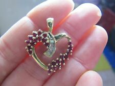 10 K Gold heart pendant with real ruby and diamond Gorgeous!