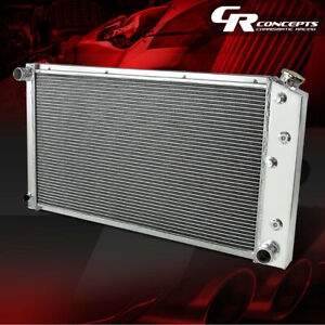FULL ALUMINUM 3-ROW RACING COOLING RADIATOR FOR 1977-1989 CHEVY C10/C20 SUBURBAN