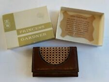 Princess Gardner Top Grain Leather Key Guard Wallet Case Brown Woven New Unused