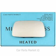 Left Passenger side Flat Wing mirror glass for Volvo 440 460 480 1991-97 heated