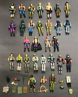 Vintage 1980's G I Joe Hasbro 3.75 Lot of 28 Figures Body Parts Accessories