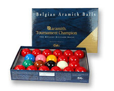 "ARAMITH TOURNAMENT CHAMPION FULL SIZE 2 1/16"" SNOOKER BALLS"