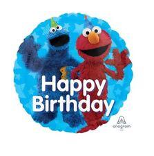 Party Supplies Boy Girls Birthday Elmo Cookie Sesame Street 45cm Foil Balloon