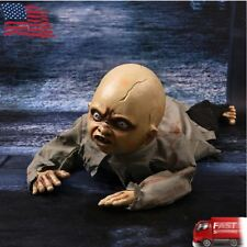 Halloween Crawling Baby Zombie Prop Animated Horror Haunted House Party Decor US