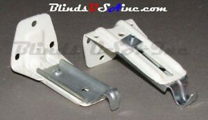(PAIR) Kirsch Continental Valance Rod SUPPORT BRACKET #6714R DRP-UBR35 (2 pcs)