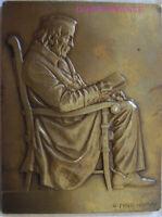MED9159 - MEDAILLE GRANDE PLAQUE VIEIL HOMME par GEORGES PRUD'HOMME