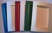 """Oblong aperture card 3 fold 8"""" x 6""""/150x205mm gold/silver borders YOU PICK"""
