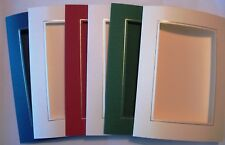 "Oblong aperture card 3 fold 8"" x 6""/150x205mm gold/silver borders YOU PICK"