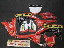 Honda CRF250 2018 CRF450 2017-18 Geico Team Honda graphics + plastics kit GR1619