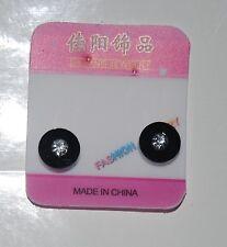 1 Pair Non Piercing Clip on Magnetic Magnet Ear Stud Men Women Fake Circle