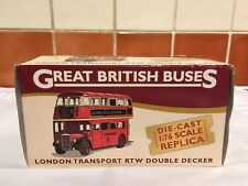 Editions Atlas Great British Buses London Transport RTW Double Decker. Pre owned