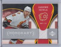 CALGARY FLAMES 2007-08 UD TRILOGY JEROME IGINLA HONORARY SWATCHES #HS-JI