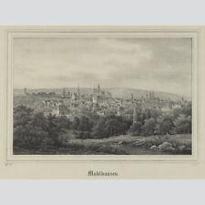 Mühlhausen Gesamtansicht. Lithographie aus Borussia 1842.
