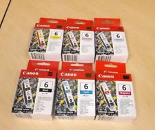 GENUINE CANON BCI-6 Muliti-Color Ink Cartridges in Boxes