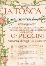 LA TOSCA Opéra Victorien SARDOU ILLICA GIACOSA musique PUCCINI Paul FERRIER 1908