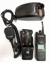 MOTOROLA XTS3000 MII 800Mhz Radio w/ Antenna Battery Charger Speaker/Mic Holster