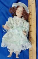 """All Bisque Porcelain Vintage Jointed 8"""" Mini Victorian Clothing Hat Antique-Styl"""