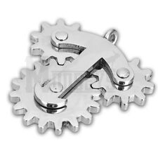 Stainless Steel Fidget Gear Necklace Pendant Spinner Toy For Stress EDC ADHD