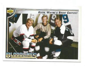 1992-93 Upper Deck #37 Bloodlines Keith / Brent / Wayne Gretzky Los Angeles King