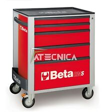 Carrello cassettiera mobile Beta Tools C24S 5/R portautensili 5 cassetti rosso