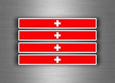 4x sticker decal car stripe switzerland racing flag bike moto tuning swiss