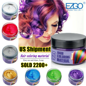 8 Color EZGO Hair Color Wax Cream life in color paint party Halloween Hair Dye