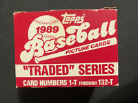 1989 Topps Traded Complete 132 Card Box Set w/41T Ken Griffey Jr Rookie Card RC