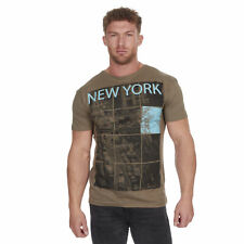 Men's Printed Designer T-Shirts Pure Cotton Novelty America Vintage Tops New UK