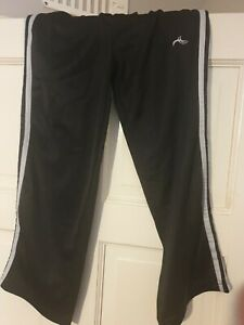 Black Kids Jogging Bottoms  Trousers Age7-8 Years Black/White polyester